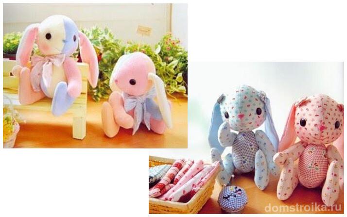 Вот такие милые игрушки можно сшить своими руками для ребенка