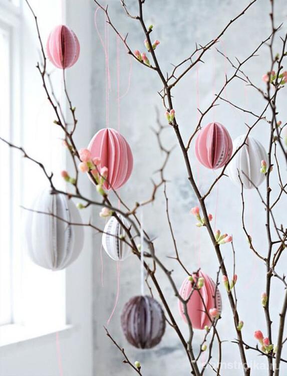 Простые подвесные игрушки для украшения дома на Пасху