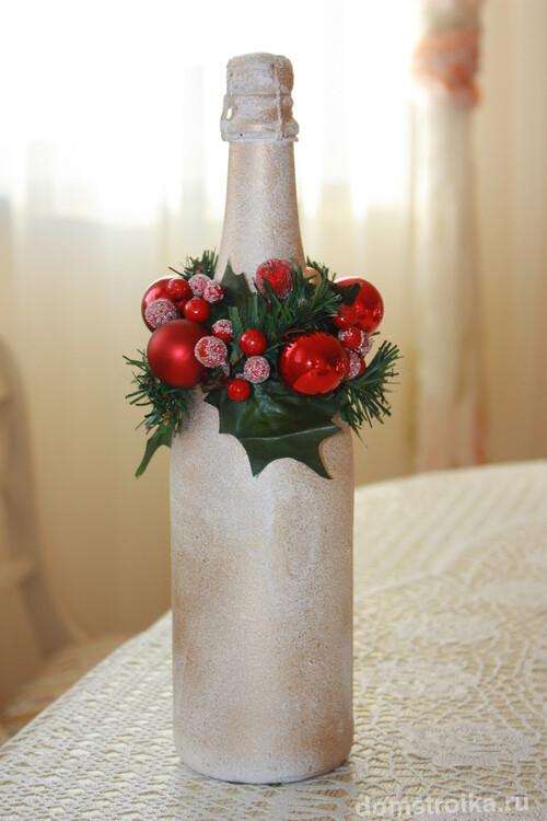Веночек для декора бутылок из искусственного материала